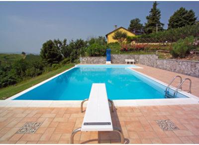 trampolini per piscine
